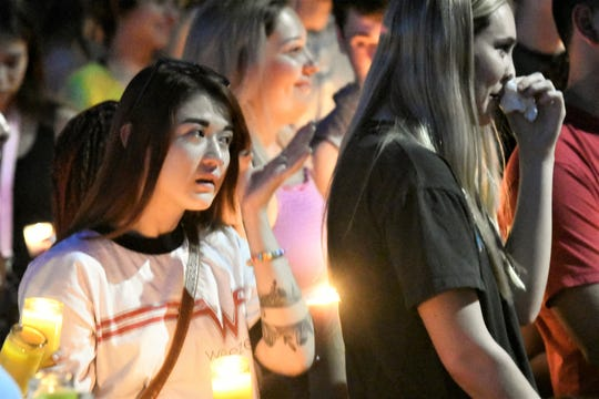 Hundreds attended a candlelight vigil celebrating the life and memory of Dana Kennedy on June 23.