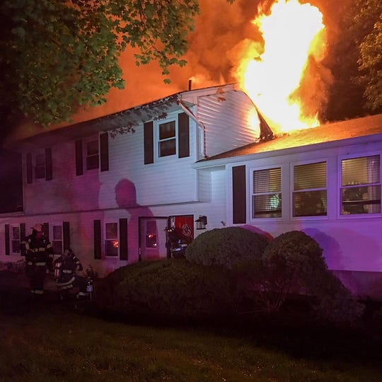 A fire ripped through a home on South Little Tor Road in New City on June 24, 2019.
