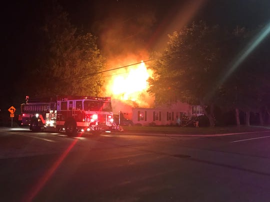 A fire tore through a house on South Little Tor Road in New City on June 24, 2019.