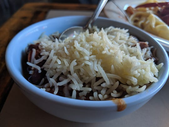 Red beans and rice at Crawdaddy's.
