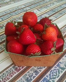 It's strawberry time in Wisconsin.