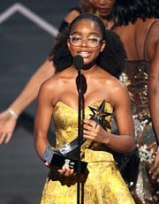 LOS ANGELES, CALIFORNIA - JUNE 23: Marsai Martin accepts the YoungStars Award Award onstage at the 2019 BET Awards on June 23, 2019 in Los Angeles, California. (Photo by Frederick M. Brown/Getty Images for BET) ORG XMIT: 775359764 ORIG FILE ID: 1157864997