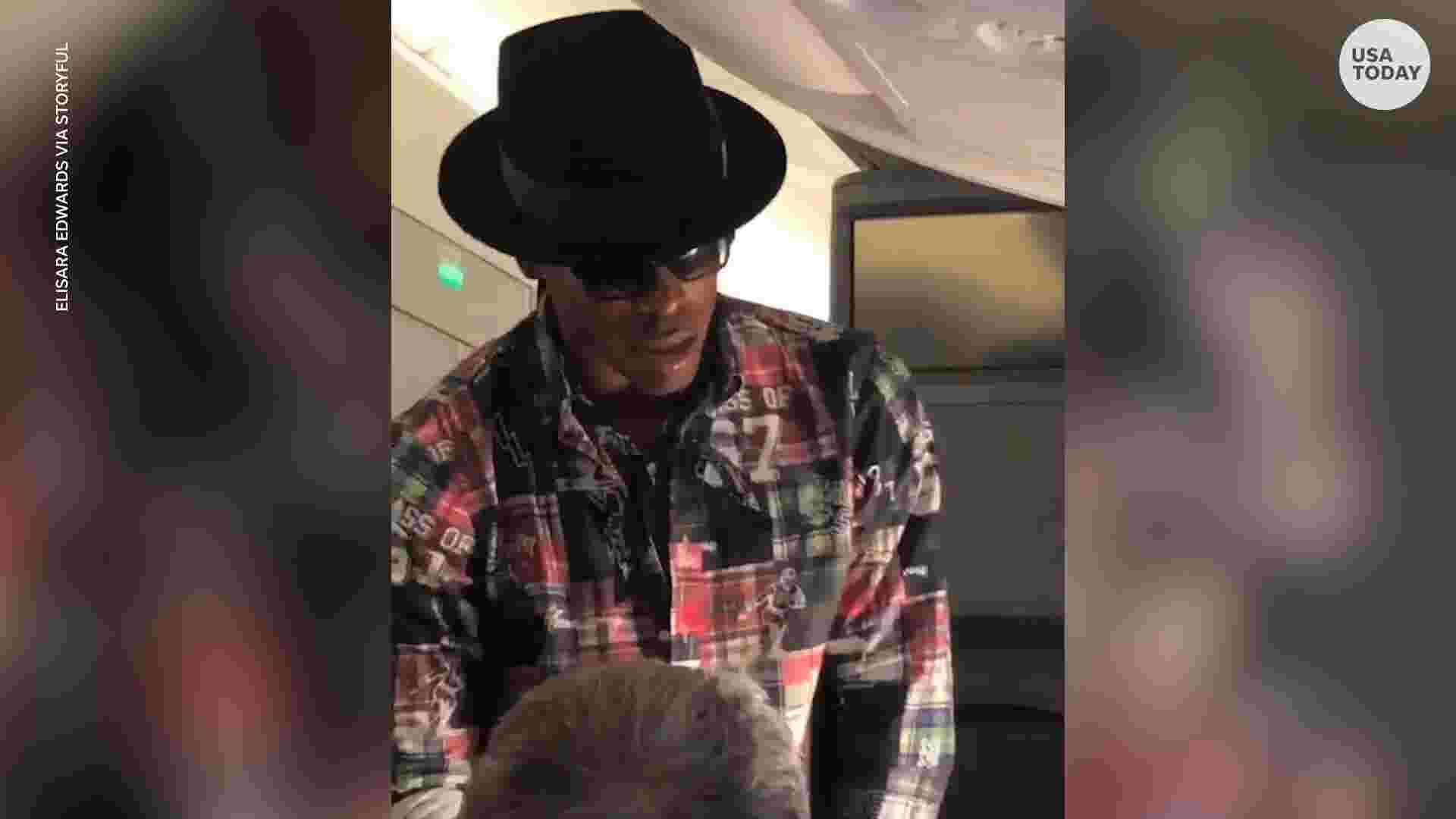 Cam Newton offers man $1,500 to switch seats on 10-hour flight