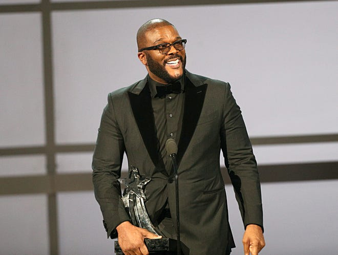 Actor/writer/director Tyler Perry accepts the Ultimate Icon Award at the 2019 BET Awards at Microsoft Theater on June 23.