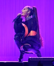 "Ariana Grande performs during her ""Dangerous Woman"" tour at Madison Square Garden on February 23, 2017 in New York City."
