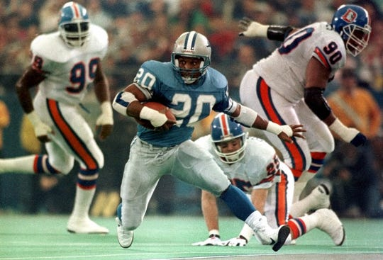 Barry Sanders was inducted into the Pro Football Hall of Fame in 2004.