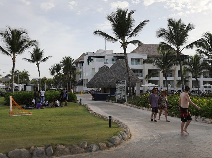 PUNTA CANA, DOMINICAN REPUBLIC - JUNE 20: The grounds of the Hard Rock Hotel & Casino are seen where a tourist died unexpectedly after getting sick two months ago on June 20, 2019 in Punta Cana, Dominican Republic. News reports and the United States State Department are saying that seven Americans have become ill and died this year and two more families are reported to have come forward saying their relatives died unexpectedly last year while staying at resorts in the Dominican Republic. The FBI is assisting the Dominican authorities in the investigation into why tourists are dying. (Photo by Joe Raedle/Getty Images) ORG XMIT: 775359001 ORIG FILE ID: 1157266799