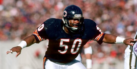 Mike Singletary was an intense presence for the Bears defense in the 1980s.