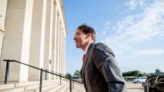 Acting Defense Secretary Mark Esper arrives at the Pentagon in Washington, Monday, June 24, 2019. (AP Photo/Andrew Harnik) ORG XMIT: DCAH108