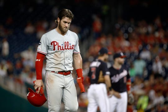 The Phillies have lost seven in a row through Sunday.