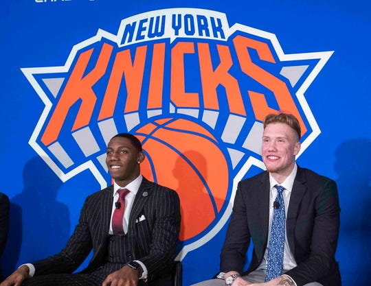 RJ Barrett (left) and Ignas Brazdeikis will be making their debuts with the Knicks' summer league team.