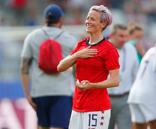 June 24: The USA advanced to a quarterfinal match with France after beating Spain 2-1 in the Round of 16. Megan Rapinoe starred for the USWNT.