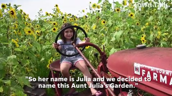 This is the second year of operation for Aunt Julia's Garden which offers customers a chance to cut their own fresh flowers, buy produce and take photos.