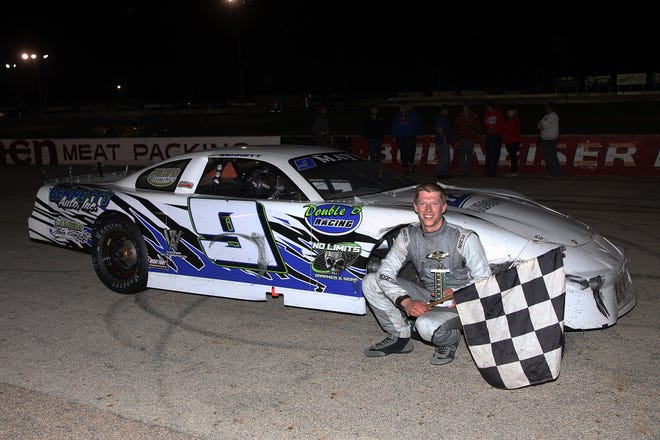 """Neenah's Braison Bennett will be pulling double duty Thursday at Wisconsin International Raceway, wheeling his late model and also his dirt sportmod during the first """"Pavement Pounder"""" event."""