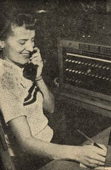 "Doris Couch was featured in a 1949 Reporter-News story on the 30th anniversary of Cox Hunter Hall Insurance. She took calls at the agency, answering, ""Good morning/afternoon, Cox Hunter Hall."""