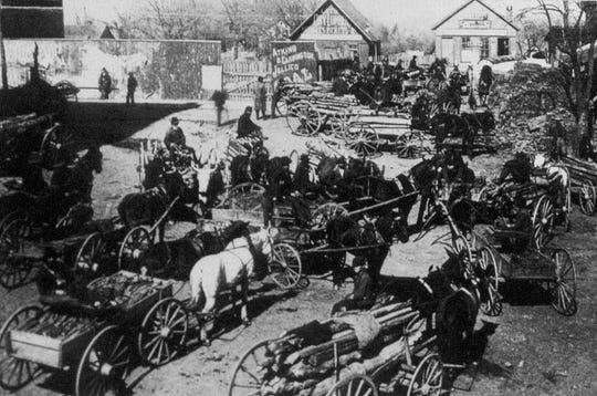 1880s lumber lot in Asheville