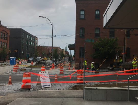 Construction in front of Perky Planet Coffee on St. Paul and King Streets on Tuesday, June 25, has been extended until September.