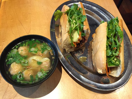 Wonton soup and banh mi bo at the new Pho Son restaurant on College Street in Burlington.