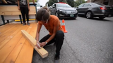 """In 2018, Burlington saw it's first pop-up park, called a """"Parklet"""" because it's built in two downtown parking spaces."""