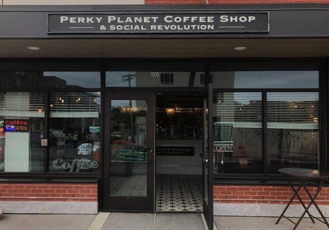 Perky Planet Coffee (& Social Revolution) on St. Paul and King Streets open for business on Tuesday, June 25 despite construction, which has been delayed until September.