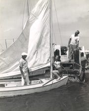About to head out for some sailing in Corpus Christi Bay in 1949.