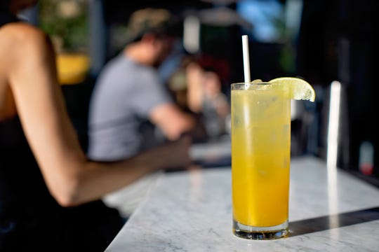 Faubourg, the swanky French brasserie that recently opened in Montclair, decided to make a Mule that's even more summery and tropical than the classic, using passion fruit puree. It's served in a highball glass -- a great cocktail to drink on Faubourg's spacious patio on a hot summer evening.