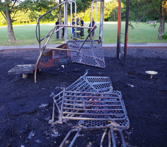 Pine Hill Police say a suspicious fire at the Charles Bowen Recreational Complex caused $75,000 in damages to the playground and a concession stand.