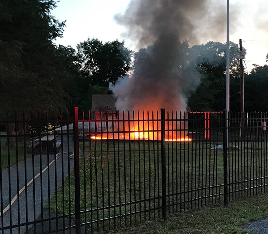Pine Hill Police say a fire at the Charles Bowen Recreational Complex is suspicious.