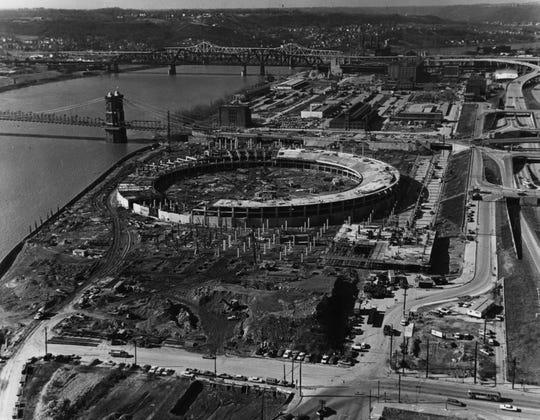 1969: Riverfront Stadium, Cincinnati, Ohio.