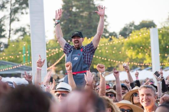 Kevin Youkilis seen at BottleRock Napa Valley Music Festival at Napa Valley Expo on Saturday, May 27, 2017, in Napa, Calif.