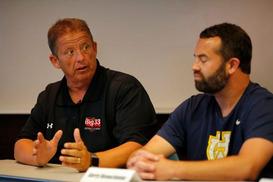 Mt. Healthy head football coach Arvie Crouch discusses challenges he faces in his district at the Enquirer building in downtown Cincinnati on Thursday, June 20, 2019.