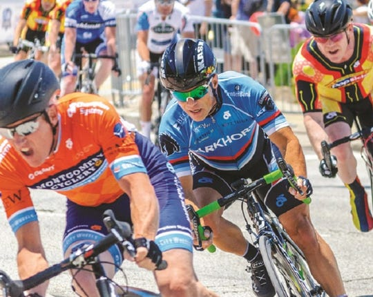 Cyclists compete for cash prizes during an annual Madeira Criterium.