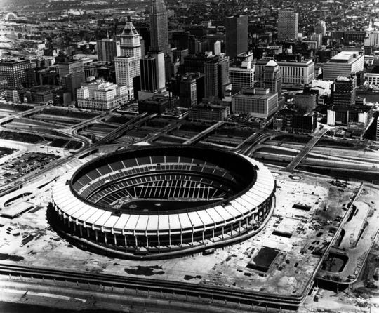 JUNE 1970: Riverfront Stadium, downtown Cincinnati.