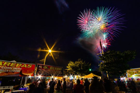 Fireworks can be enjoyed at Carteret's Independence Day Festival on July 3 at Waterfront Park.