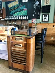 A radio at Grover's Mill Coffee Co., similar to the ones listeners used to tune into 'War of the Worlds' in 1938.