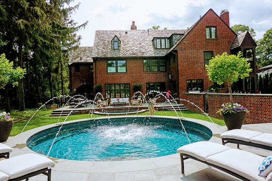 The garden, located at 19410 Lucerne, was designed by Deborah Silver of Detroit Garden Works. Recently updated for today's living with pool, terrace, and greenhouse, the home and garden will be shown at the soiree and preview event July 13.
