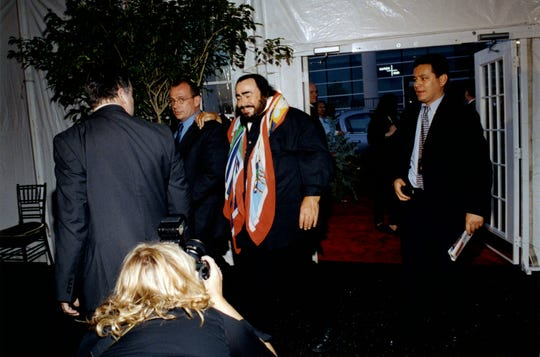 Luciano Pavarotti in 2003 makes an appearance at the Palace of Auburn Hills.