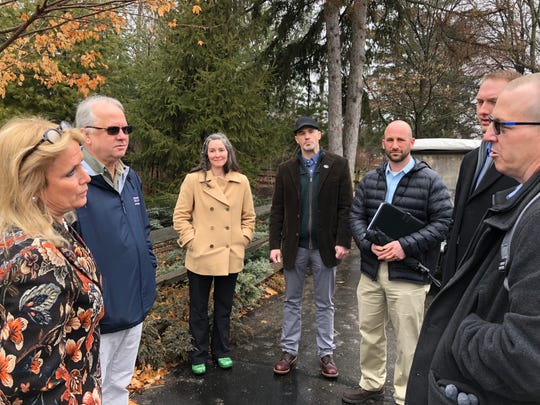 Michigan Rep. Debbie Dingell (left) meets with conservation, hunting and angling leaders.