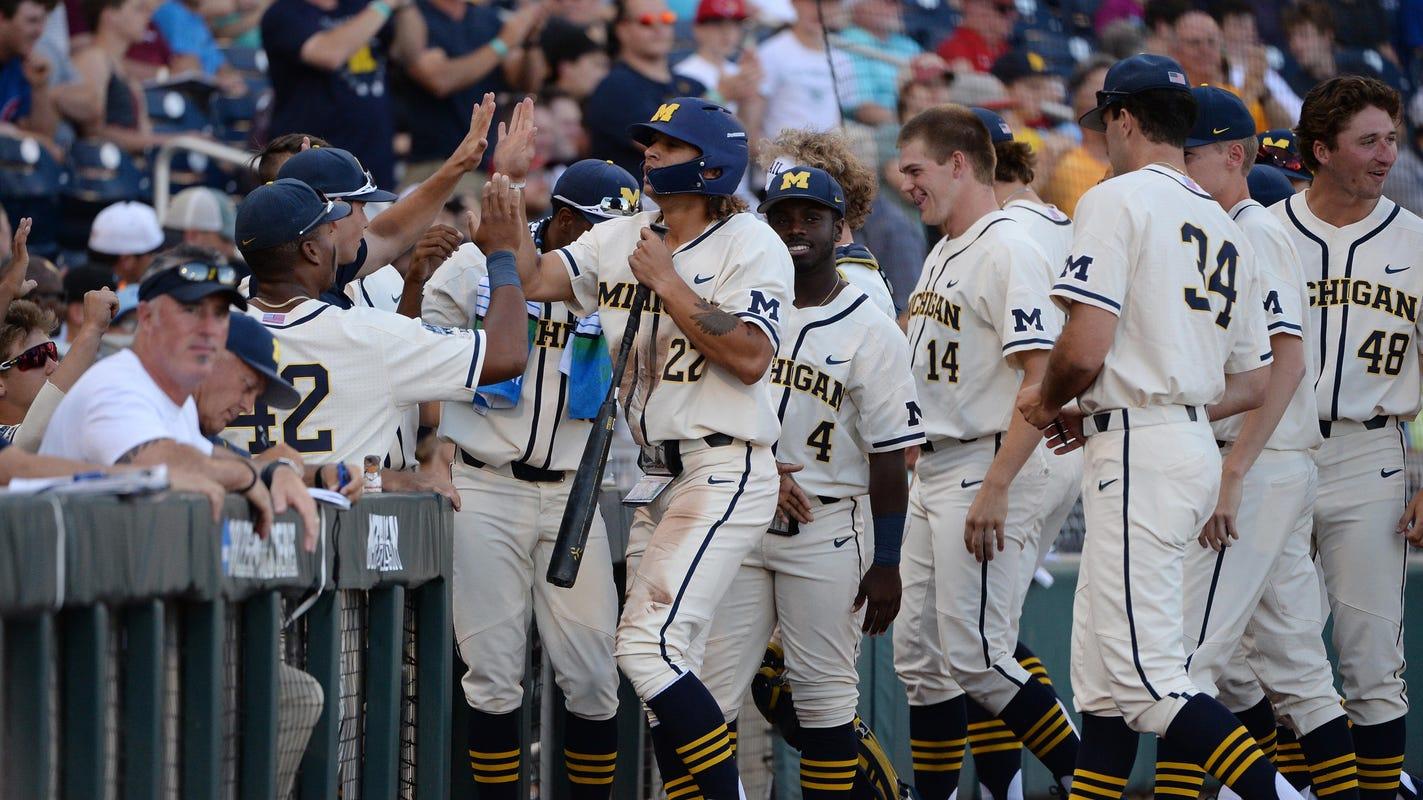 Michigan baseball's Jimmy Kerr hears from grandpa, powers win