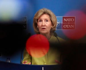 United States Ambassador to NATO Kay Bailey Hutchison.