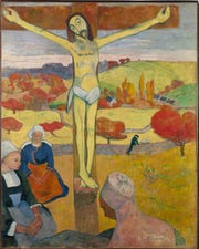 "Paul Gauguin's 1889 ""The Yellow Christ,""  in the new DIA show ""Humble and Human,"" running through Oct. 13."