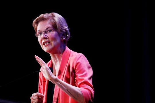 Democratic presidential candidate U.S. Sen. Elizabeth Warren, D-Mass., speaks during a forum on Friday, June 21, 2019, in Miami.
