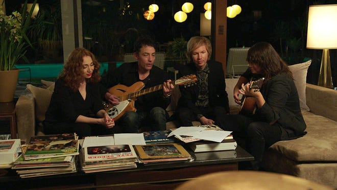 "Regina Spektor, Jakob Dylan, Beck and Cat Power in ""Echo in the Canyon."""