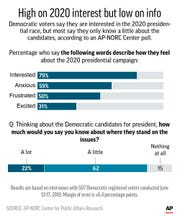 Results of AP-NORC poll of registered Democrats on attitudes about the 2020 Democratic presidential race;
