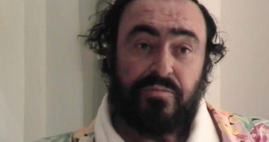 "Luciano Pavarotti in ""Pavarotti."""