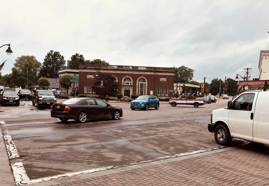 Maneuvering through Hanover Square in Horseheads is old hat for residents but can be confusing for out-of-town motorists.
