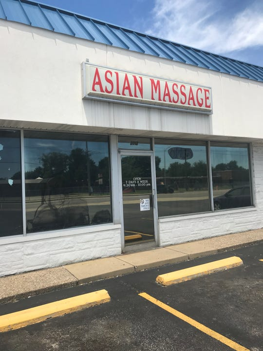 Police say a detective at Asian Massage, 2012 E. Morgan Ave., was propositioned and touched inappropriately after offering an additional $40.