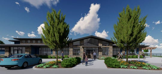 Conceptual drawings for the new $3.2 million pavilion at Lakeside Park in Fond du Lac show it will be set on the shores of Lake Winnebago and include meetings rooms, a kitchen and concessionaire, patio space and an area for food trucks. Construction is set for fall 2020.