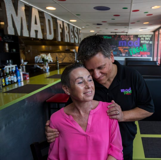 Nathalie and Patrik Schuster are the owners of Mad Fresh Bistro in Fort Myers. They are both immigrants from Germany who came to Fort Myers in May 2018 and purchased the restaurant. In November 2018, Nathalie was diagnosed with stage IV ovarian cancer. They've been balancing running the business with her cancer battle since then.