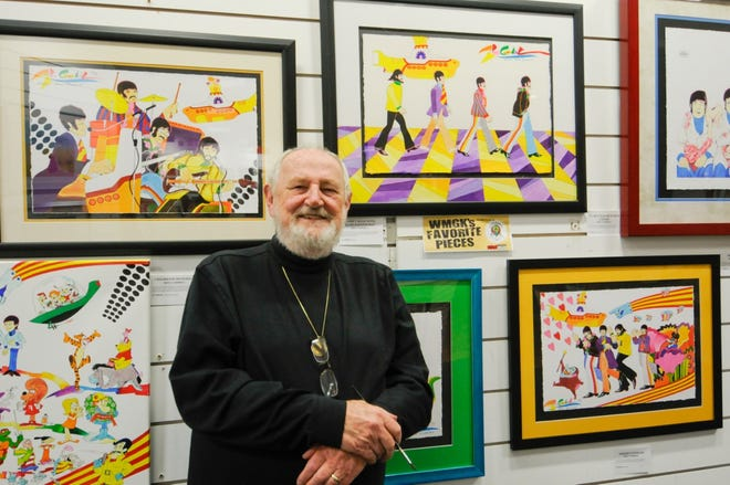 """Artist Ron Campbell, one of the animators for """"Yellow Submarine"""" and director of """"The Beatles"""" cartoon series of the 1960s, is bringing his Beatles art to the Art Garage July 12 to 14."""
